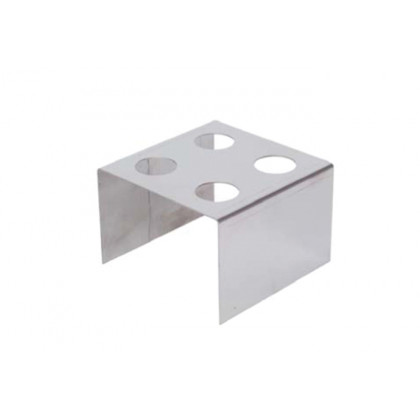Suport inox per a 4 cons (120x120x90mm), 100% Chef
