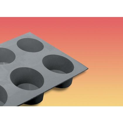 Motlle silicona elastomoule porcions Mufin o 74 54 mm 9,5 cl
