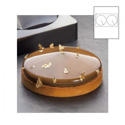 Frisbee TOP motlle silicona 300x175 - Ø 140xh 33 mm, Pavoni