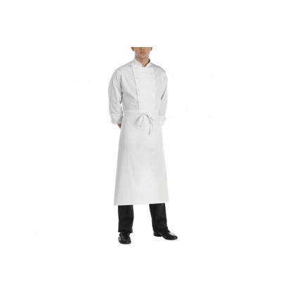 Davantal francès Blanc 100% cotó (90x110cm), EgoChef - 2 unitats