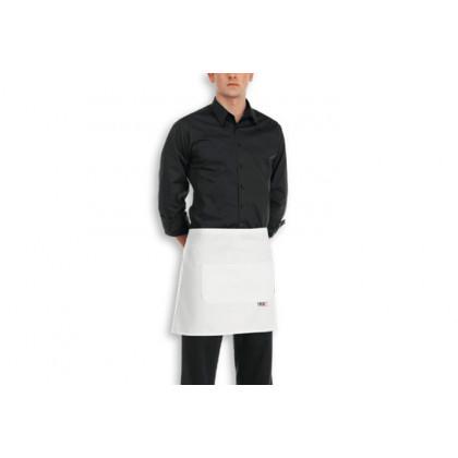 Davantal Cintura Butxaca Central Blanc 100% Cotó (40x70cm), EgoChef - 2 unitats