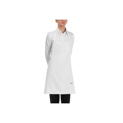 Davantal peto curt butxaca central Blanc 100% cotó (70x70cm), EgoChef - 2 unitats