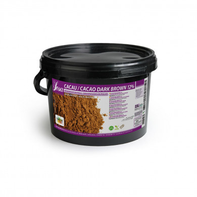 Cacau en pols Dark Brown 12% (2, 5kg ), Sosa