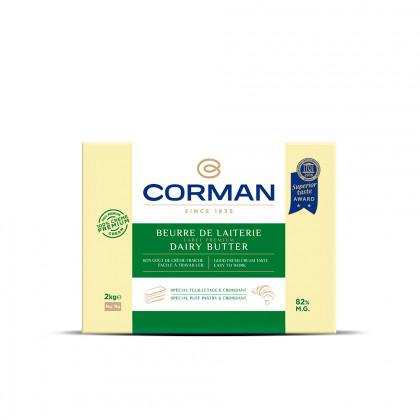 Mantequilla de Lechería 82% MG en placa (2kg), Corman