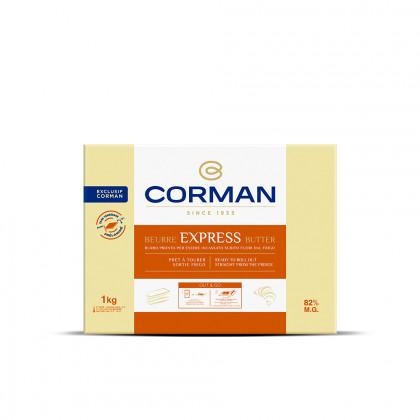 Mantequilla Express 82% MG en placa (1kg), Corman
