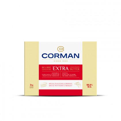 Mantequilla Concentrada Extra 99,9% MG con caroteno en placa (2kg), Corman