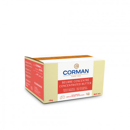 Mantequilla Concentrada Extra Pâtissier 99,9% MG con caroteno en bloque (10kg), Corman