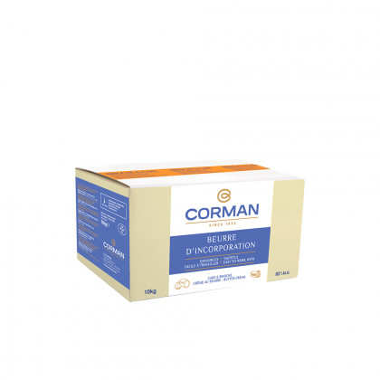 Mantequilla Extra para incorporación 82% MG con caroteno (10kg), Corman