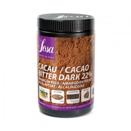 Cacao en polvo Bitter Dark 22% (cacao amargo), Sosa