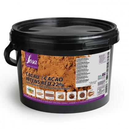 Cacao en polvo Intens Red 22%, Sosa