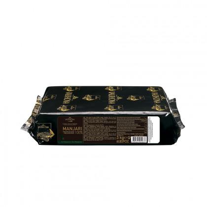 Pasta pura de cacao Manjari 100% (1kg), Valrhona - 3 unidades