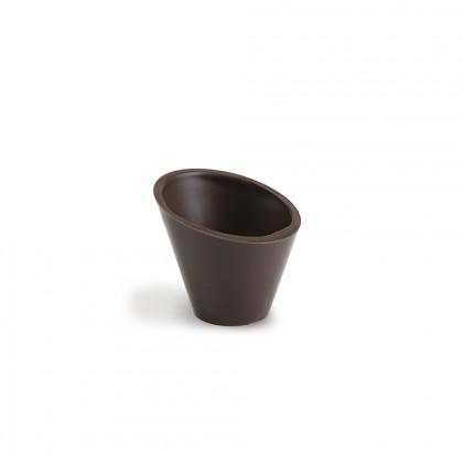Decoración Pisa cup negra (Ø49/Ø30x35x25mm), Dobla - 168 unidades
