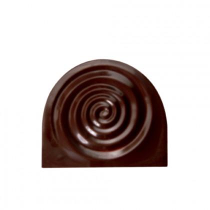 Placa relieve Spirale (70x79mm), Chocolatree - 60 unidades