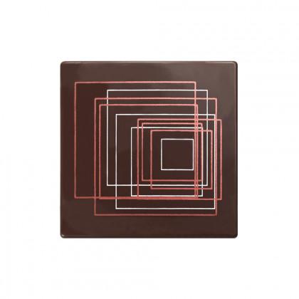 Placa Elliptik (85x85mm), Chocolatree - 48 unidades