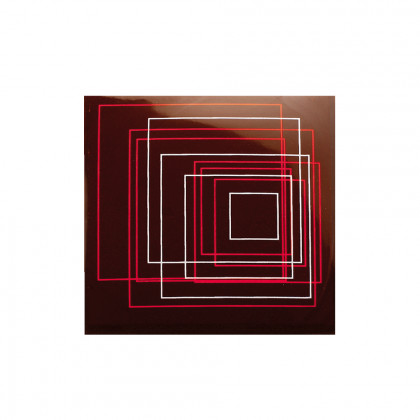 Placa Square rose (70x70mm), Chocolatree - 50 unidades