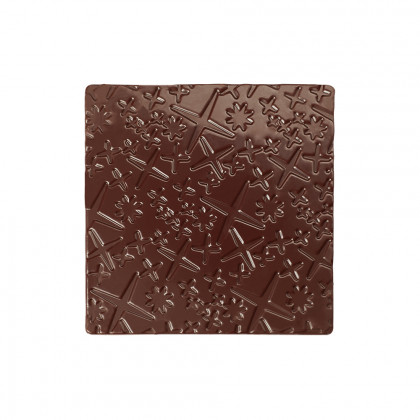 Placa relieve Spirale (85x85mm), Chocolatree - 60 unidades