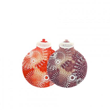 Placas bolas Navidad (39x48mm), Chocolatree - 75 unidades