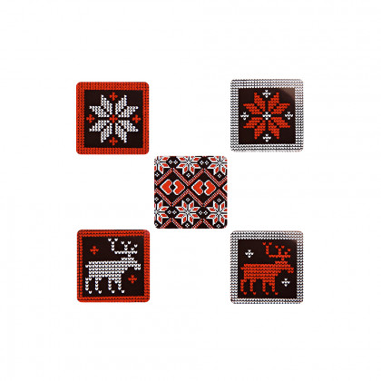 Placas Scandinave (23x23mm), Chocolatree - 315 unidades