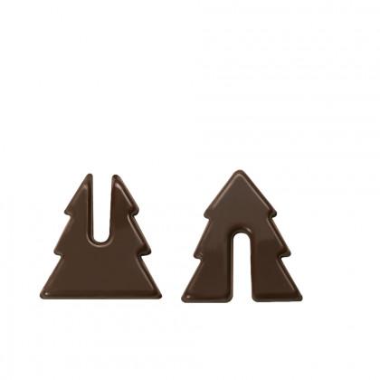 Abeto montable (30x27mm), Chocolatree - 110 unidades