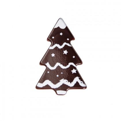 Abeto guirnalda blanca (40x27mm), Chocolatree - 160 unidades