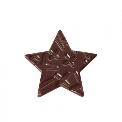 Estrella con relieve Galaxie (41x39mm), Chocolatree - 126 unidades