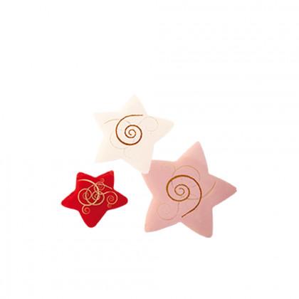 Estrella jaspeada Spirale (50/40/30mm), Chocolatree - 84 unidades