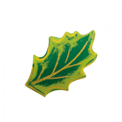Hojita de acebo (40x26,5mm), Chocolatree - 150 unidades