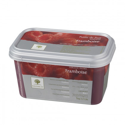 Pulpa de frambuesa congelada (1kg), Ravifruit
