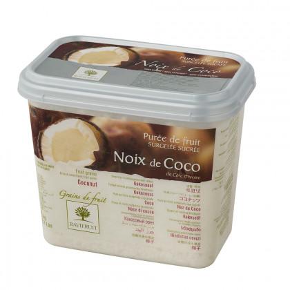 Grains de fruit de coco congelados (1kg), Ravifruit