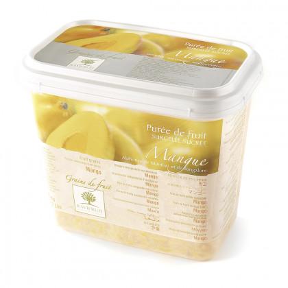 Grains de fruit de mango congelados (1kg), Ravifruit