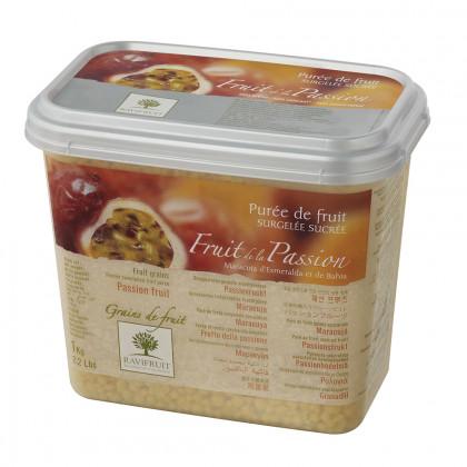Grains de fruit de fruta de la pasión congelados (1kg), Ravifruit