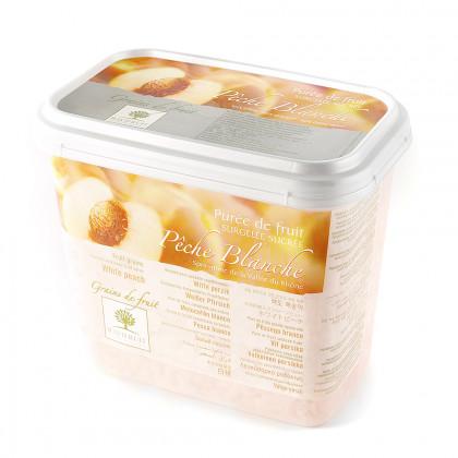 Grains de fruit de melocotón congelados (1kg), Ravifruit