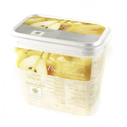 Grains de fruit de pera Williams congelados (1kg), Ravifruit