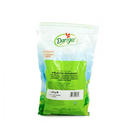 Mezcla de pimientos congelados (250g), Daregal