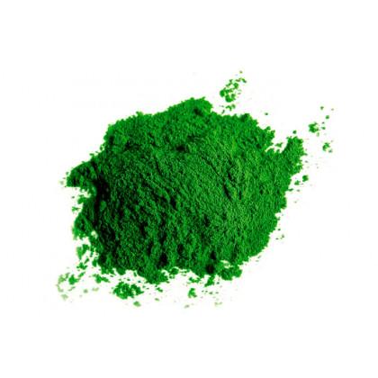 Colorante laca verde en polvo, Sosa