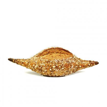 Pan integral de centeno y espelta precocido ECO (450g-12u), Fermentus