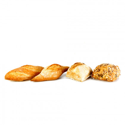 Mini pan surtido precocido (35g-50u), Fermentus