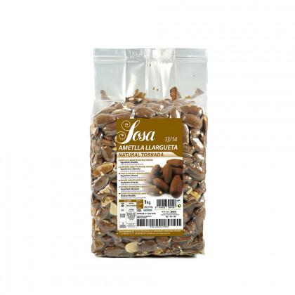 Roasted unpeeled largueta almond 20/22 (1kg), Sosa