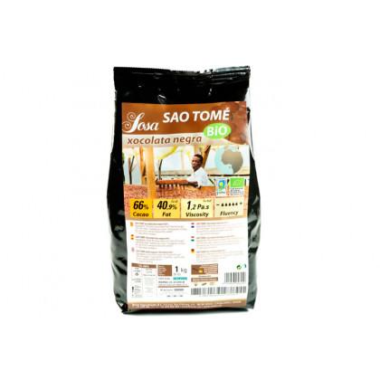 Sâo Tomé 66% organic dark couverture, Sosa