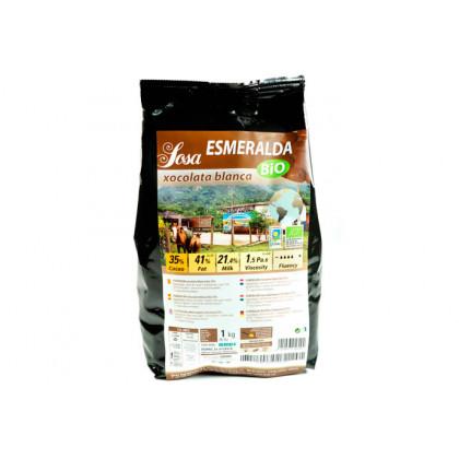 Esmeralda 35% organic white couverture, Sosa
