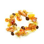 Mollejas de cordero glaseadas con emulsión de ajo negro