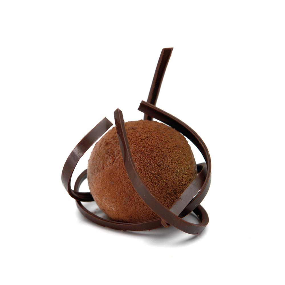 Esfera de mousse de xocolata