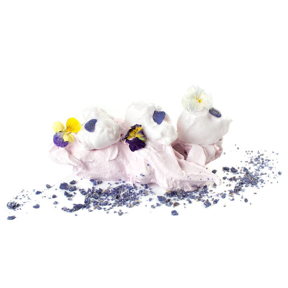 Merenga seca de violeta tipus suís
