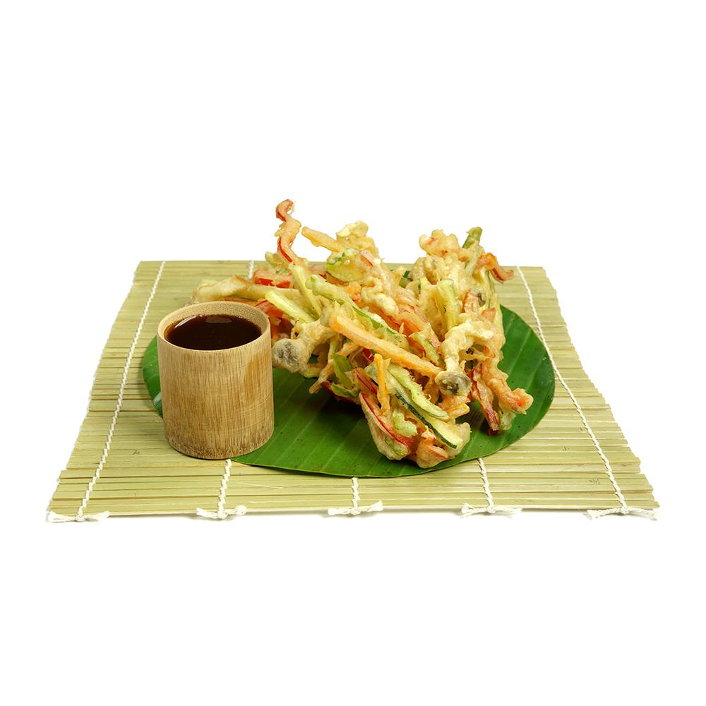 Tempura de verdures amb salsa tentsuyuTempura de verdures amb salsa tentsuyu