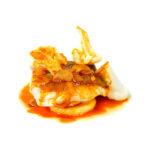 Bacallà amb coliflor i allada