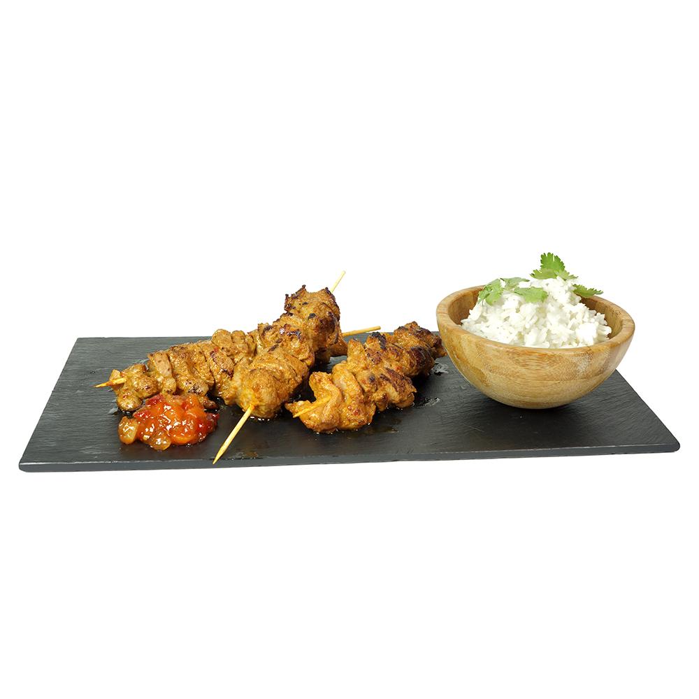 Broqueta de xai tandoori garam massala