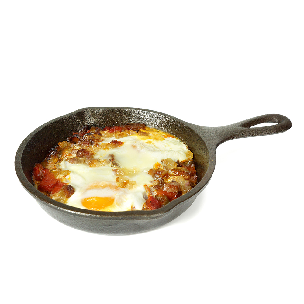 Ous al plat amb piperrada