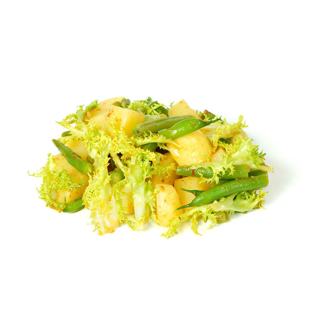 Amanida de patata, mongeta i escarola