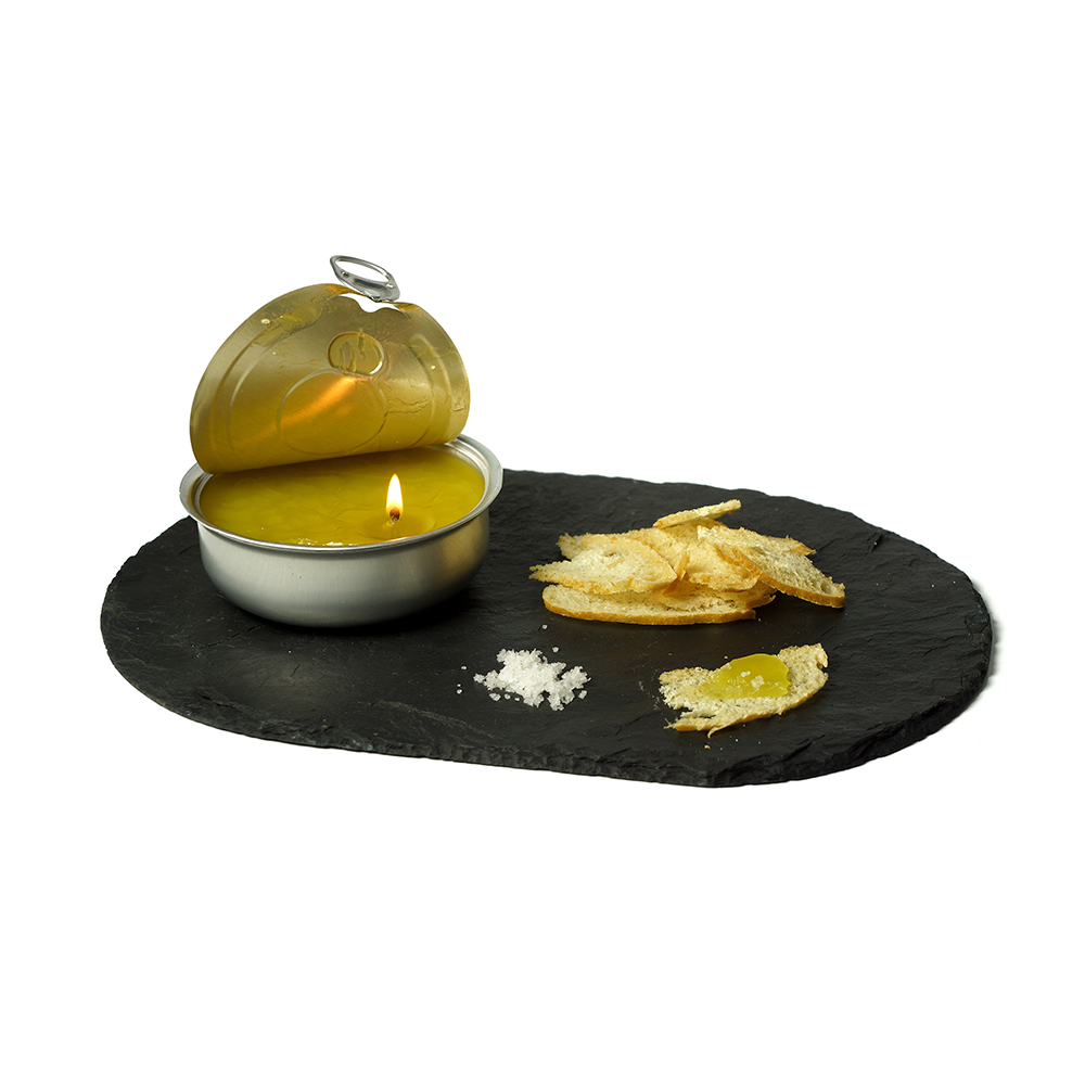 Espelma d'oli de mel i llimona