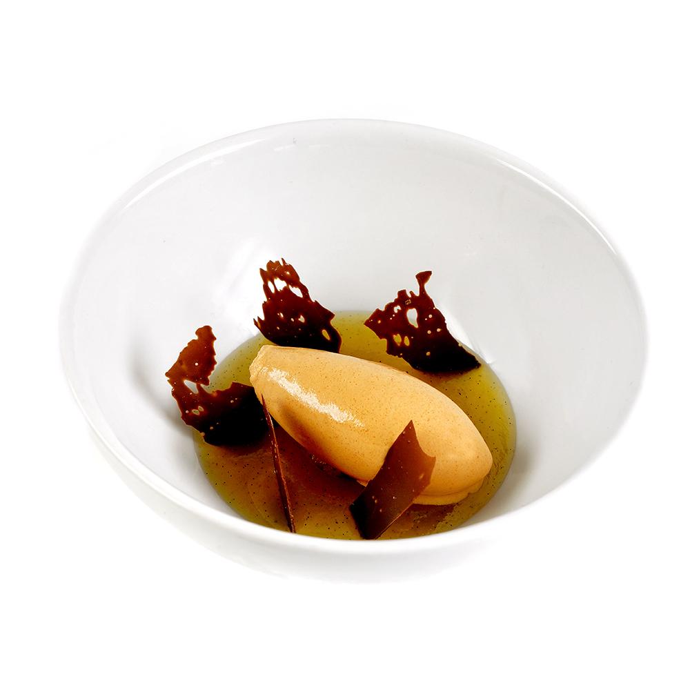 Gelat de pebrot vermell i xocolata Jivara